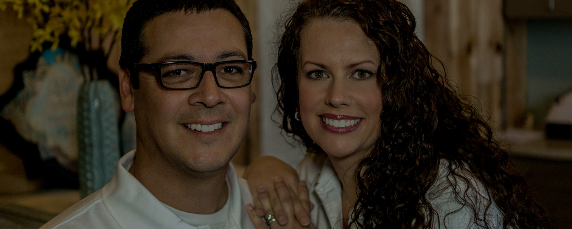 Angie with her husband, Joseph